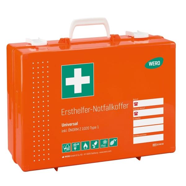 Werotop® 450 Ersthelfer-Notfallkoffer Universal ÖNORM Z 1020 Typ 1