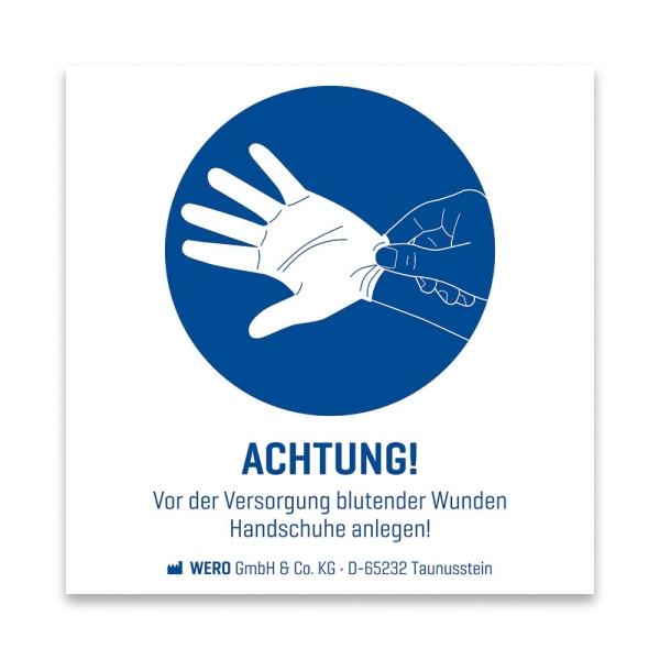 Gebotszeichen: Handschuhe anlegen