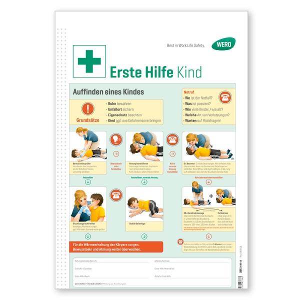 WERO Schild: Erste Hilfe bei Kindern