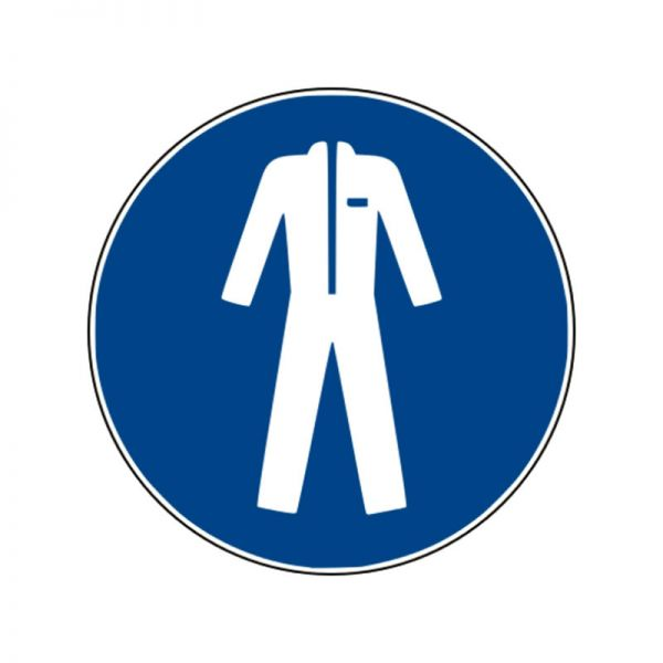 Gebotszeichen: Schutzkleidung benutzen