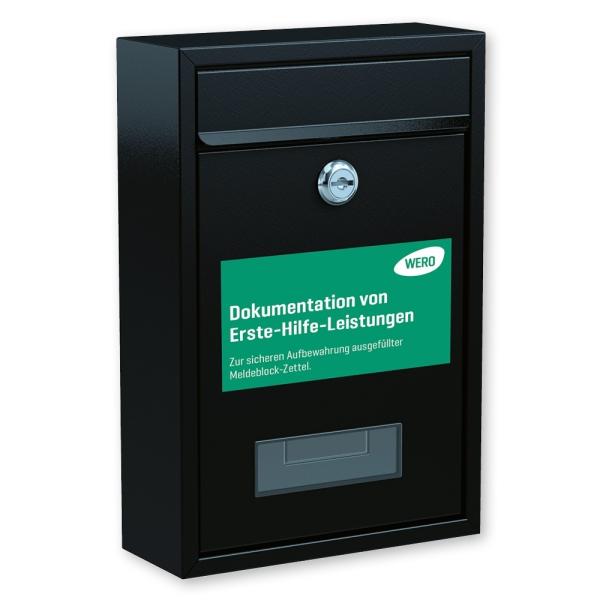 Briefkasten für Meldeblock-Zettel