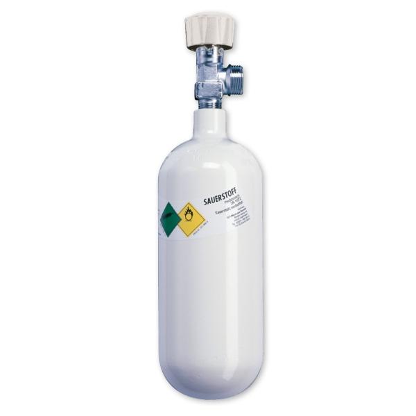 Sauerstoff-Flasche N – ohne Druckminderer
