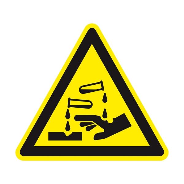 Warnzeichen: Warnung vor ätzenden Stoffen