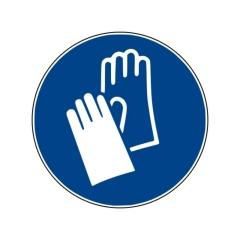 Gebotszeichen: Handschutz benutzen