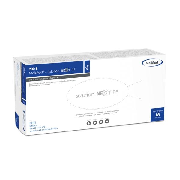 Nitril-Einmalhandschuhe solution next PF, 200 Stk