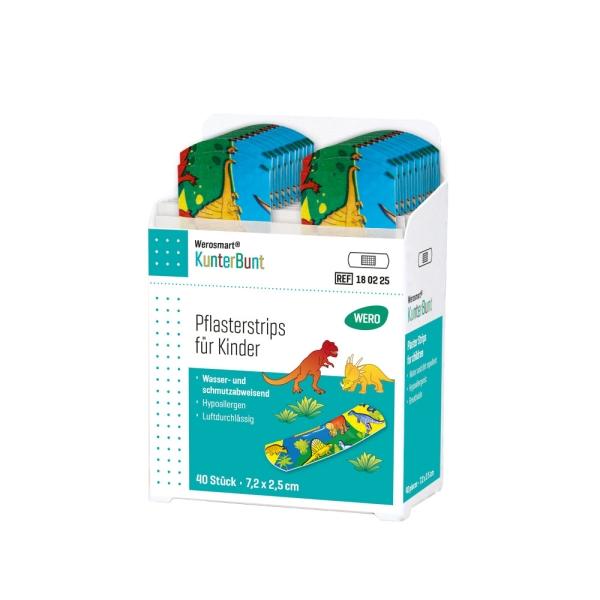 Werosmart® KunterBunt für Kinder Pflasterspender-Einsätze Pflasterstrips 7,2 x 2,5 cm