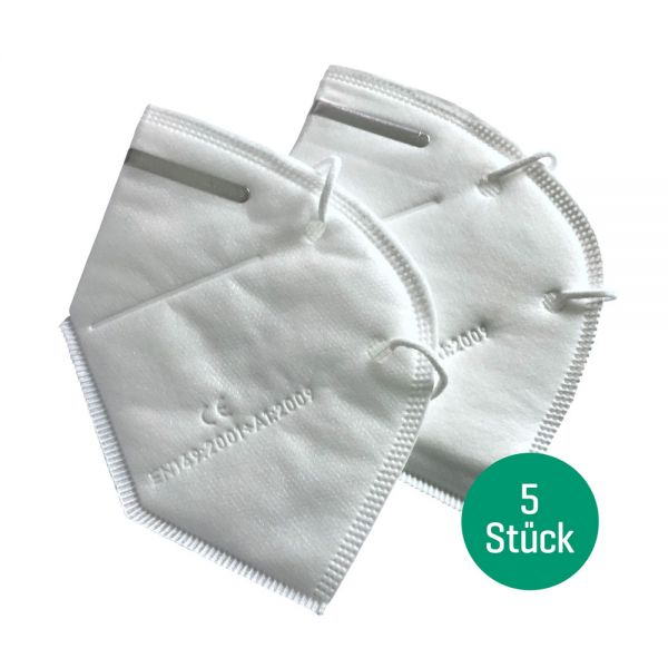 Atemschutzmaske KN95 FFP2, 5 Stk
