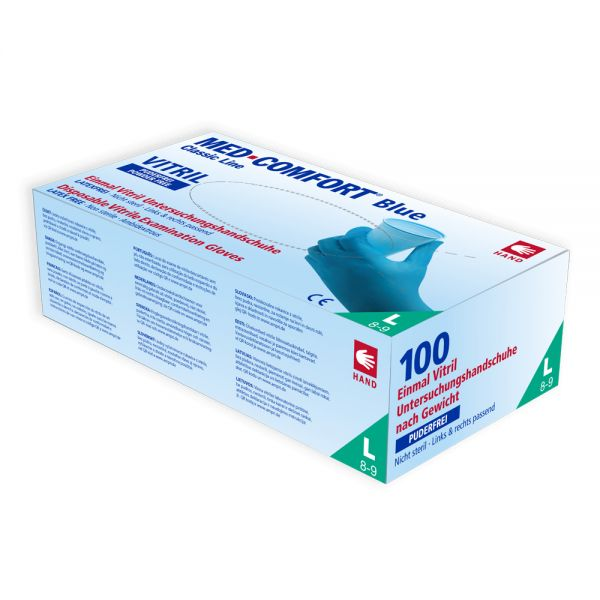 Vitril Einmalhandschuhe MED-COMFORT Blue Vitril, 100 Stk