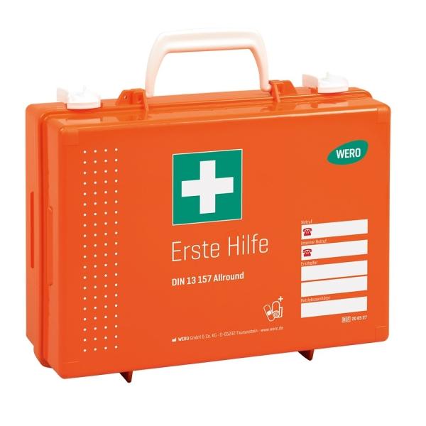 Werotop® 350 Erste Hilfe Koffer mit erweiterten DIN-Füllung DIN 13157 Allround