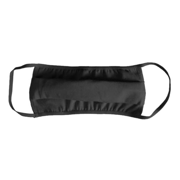 Mund-Nasen-Maske Baumwolle schwarz, 5 Stk