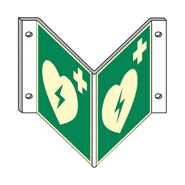 Rettungszeichen: Defibrillator