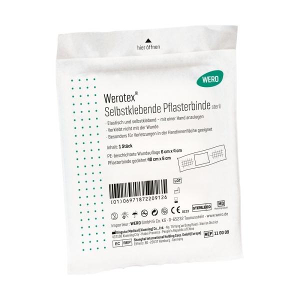 Werotex® selbstklebende Pflasterbinde, steril