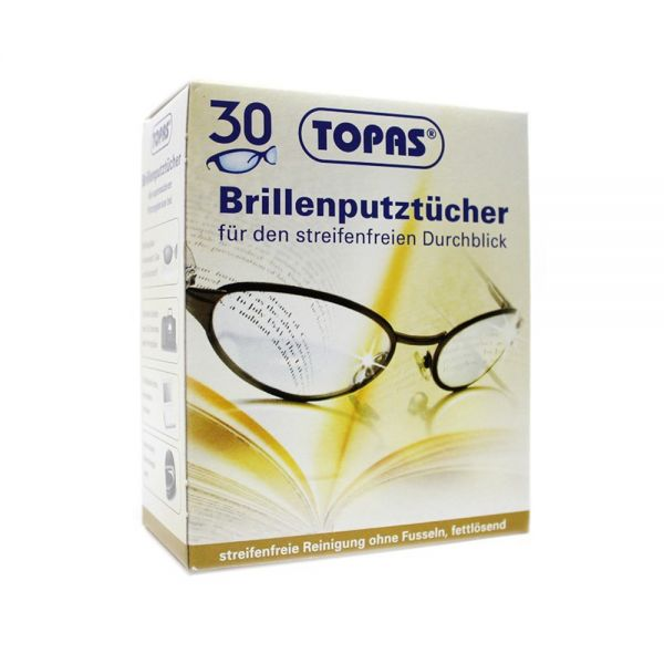 Brillenputztuch, rückstandsfrei, 30 Stk