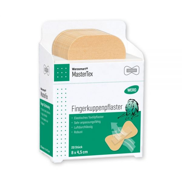 Werosmart® MasterTex Pflasterspender-Einsätze Fingerkuppenpflaster 8 x 4,5 cm