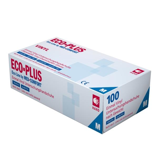 Vinyl-Einmalhandschuhe ECO-PLUS, 100 Stk