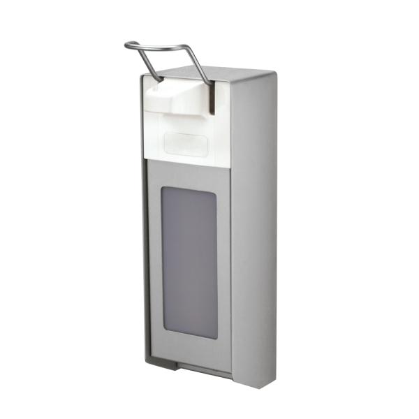 ALU-Direktspender für Waschpasten mit kurzem Bedienhebel und Verschlussplatte