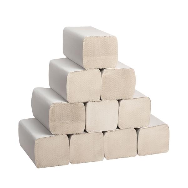Papierhandtücher Naturell für Handtuchspender im Karton