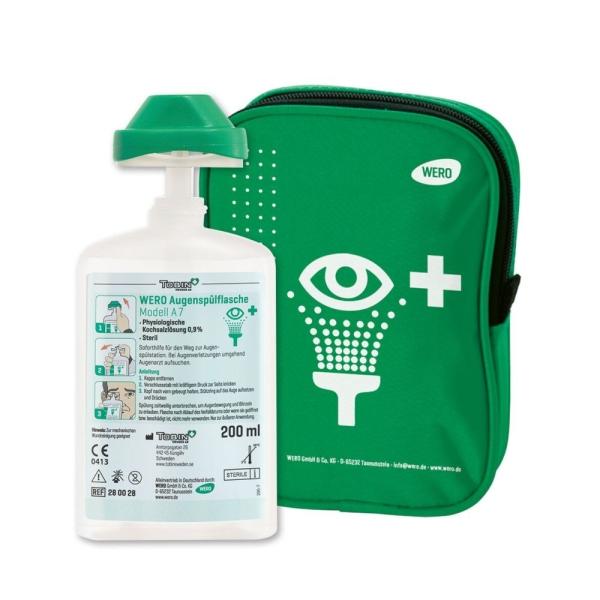 Gürteltasche mit WERO Augenspülflasche A 7