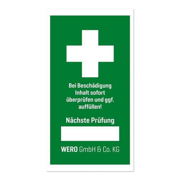 Prüfplakette: Prüfsiegel für Erste-Hilfe-Einrichtung Bild 1