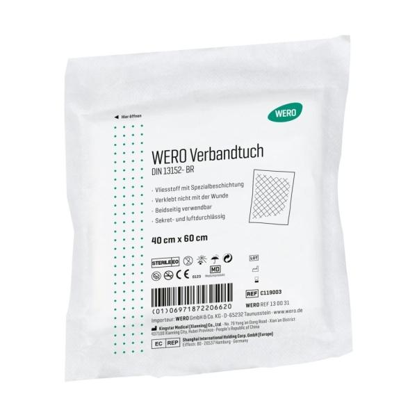 WERO Verbandtuch DIN 13152, steril