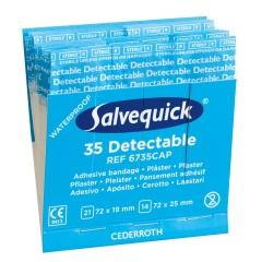 Salvequick® Pflasterstrips, detektierbar