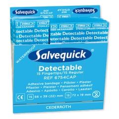 Salvequick® Pflasterstrips/Fingerkuppenpflaster, detektierbar