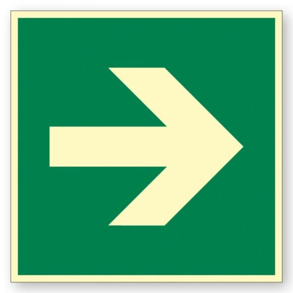 Rettungszeichen: Richtungspfeil re. / li. / oben / unten