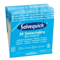 Salvequick® Pflasterstrips, detektierbar (6735CAP)