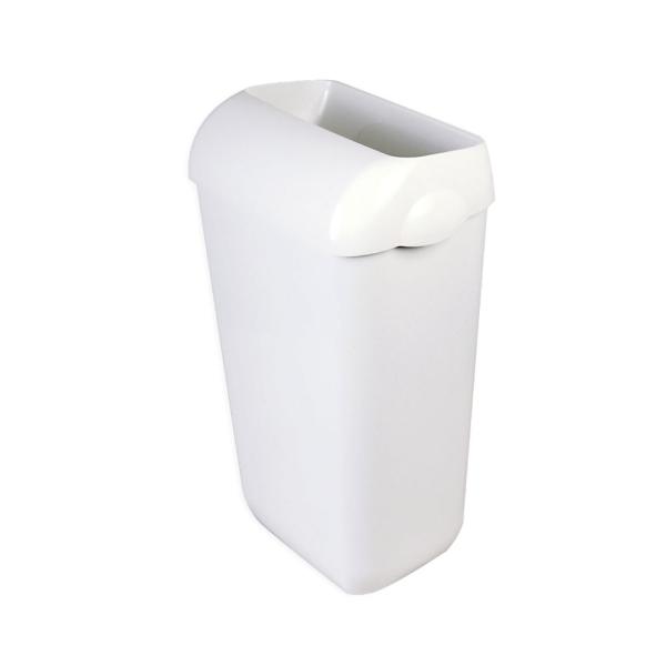 Abfallbehälter mit Deckel und Wandhalterung, 25 Liter