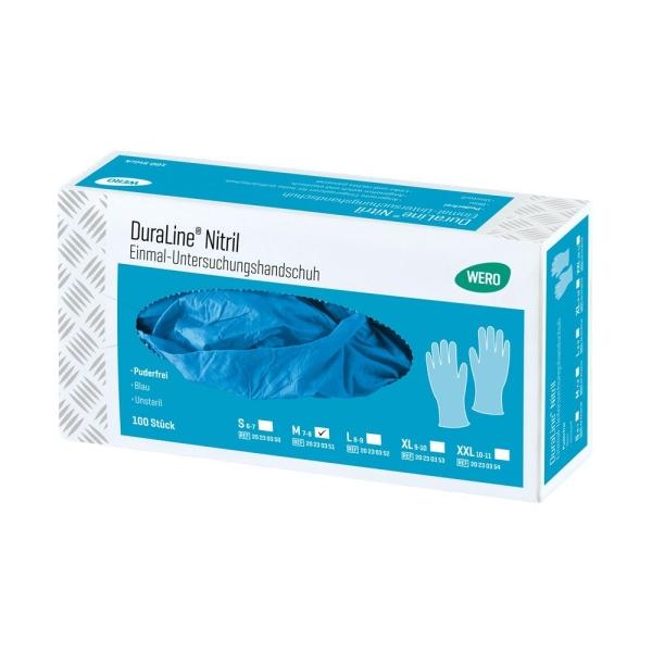 WERO DuraLine® Nitril Entnahmebox, puderfrei, 100 Stk