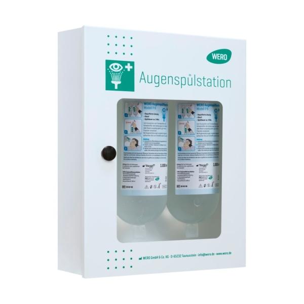 WERO Augenspülstation QuickCheck mit 2 Augenspülflaschen P 8 (gepufferte Lösung, steril)