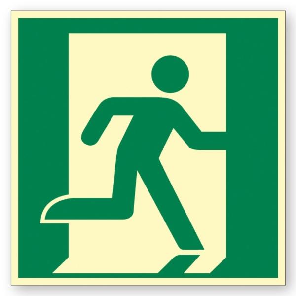 Rettungszeichen: Rettungsweg / Notausgang rechts