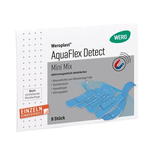 Pflasterset Weroplast® AquaFlex Detect Mini Mix, 8 Stk