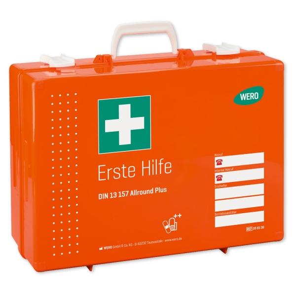 Werotop® 450 Erste Hilfe Koffer mit erweiterten DIN-Füllungen DIN 13157 Allround Plus